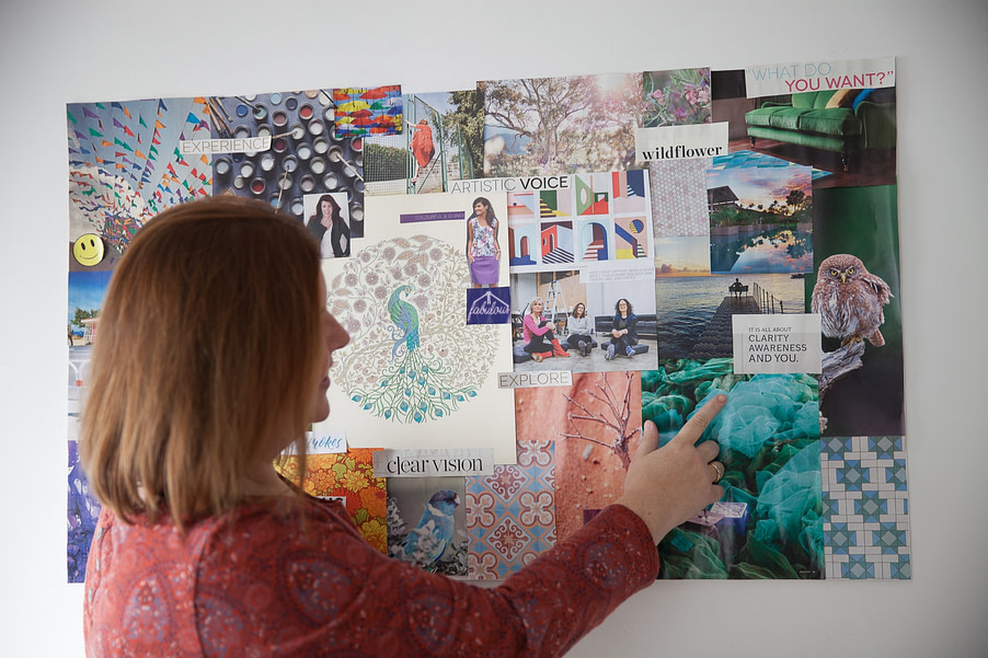 Susanna Reay with her 2018 Vision Board
